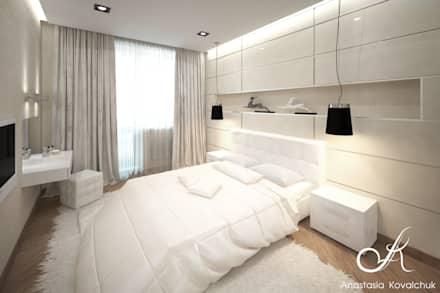 Apartment in Moscow: modern Bedroom by Design studio by Anastasia Kovalchuk