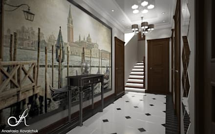 Townhouse in style of an art deco:  Corridor & hallway by Design studio by Anastasia Kovalchuk