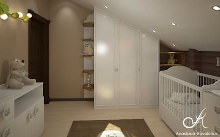 Townhouse in style of an art deco: classic Nursery/kid's room by Design studio by Anastasia Kovalchuk