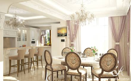 Villa: classic Dining room by Design studio by Anastasia Kovalchuk