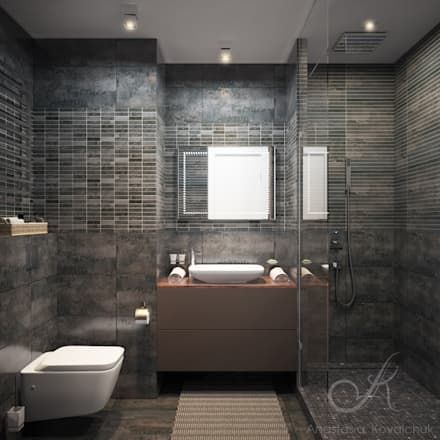 Apartment in a modern style in Moscow: modern Bathroom by Design studio by Anastasia Kovalchuk
