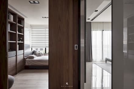 迷迭.灰   <Planes of Greyscale>:  牆壁與地板 by 理絲室內設計有限公司 Ris Interior Design Co., Ltd.