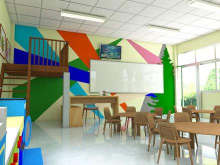 ปรับปรุงห้องเรียนอนุบาล:  ห้องนั่งเล่น by No.13 Design