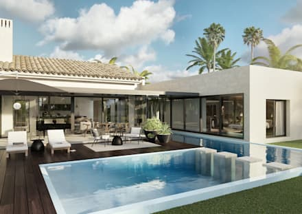 Pool Lounge: Jardins modernos por Tendenza -  Interiors & Architecture Studio