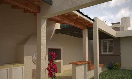 Vivienda en San Martin: Jardines de estilo moderno por Estudio Barrios Astuto