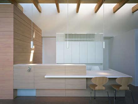 あおねこ動物病院: 柳瀬真澄建築設計工房 Masumi Yanase Architect Officeが手掛けた書斎です。