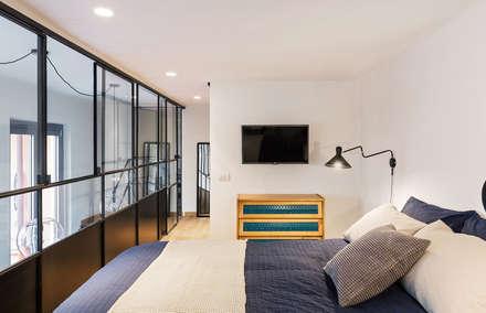 Camera da letto in stile industriale idee homify - Camera industrial chic ...