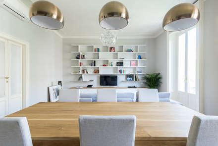 soggiorno: idee, immagini e decorazione | homify - Carta Da Parati Design Sala Da Pranzo Ispirazione Vetro Freddo
