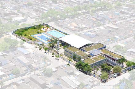 Escuelas de estilo  por Arktectus Arquitetura Sustentável