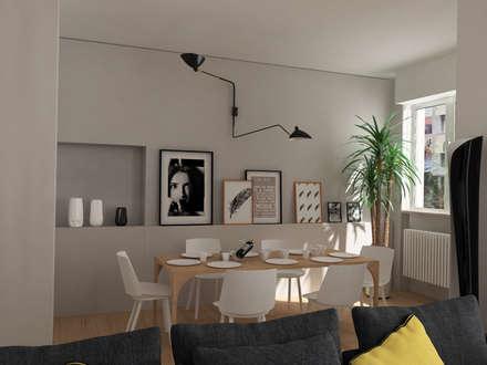 sala da pranzo: Sala da pranzo in stile in stile Minimalista di Euga Design Studio
