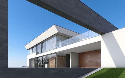 Villa Ledlweg: minimalistische Häuser von Fichtner Gruber Architekten