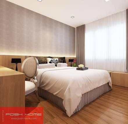 Bedroom - Tempanise Central: modern Bedroom by Posh Home