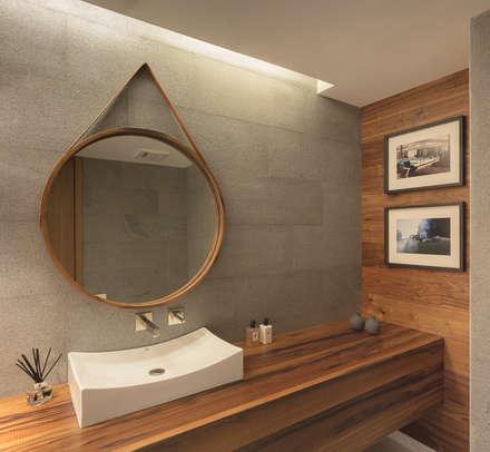 Departamento WK: Baños de estilo  por Concepto Taller de Arquitectura