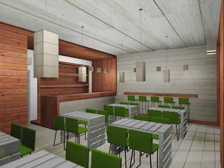 Render: Bar & Club in stile  di I-TAO architecture 'n design