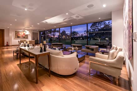 SALA: Salas / recibidores de estilo moderno por DMS Arquitectas