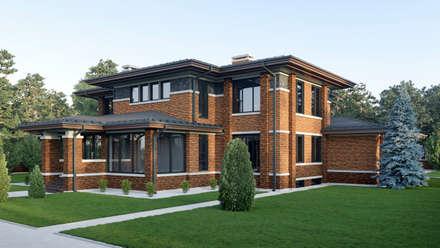 Дом в стиле Райта: Дома в . Автор – Архитектурное бюро Art&Brick