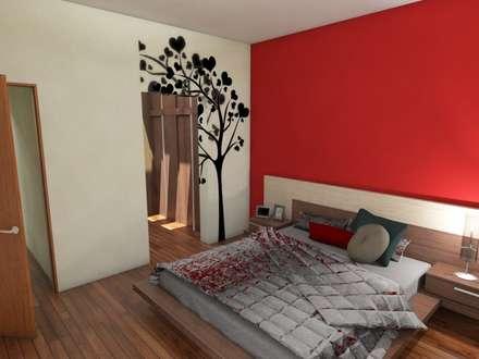 Dormitorio Principal: Dormitorios de estilo moderno por Gastón Blanco Arquitecto