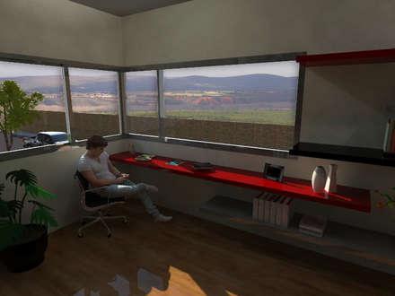 Sala de Estudio: Salas multimedia de estilo moderno por Gastón Blanco Arquitecto