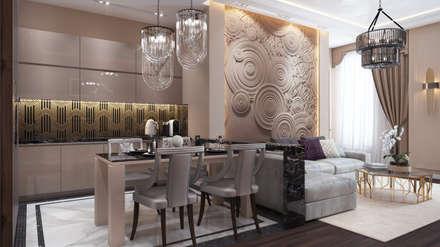 Проект апартаментов: Столовые комнаты в . Автор – Архитектурная мастерская Бориса Коломейченко