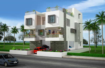 Independant House: modern Houses by Ankit Goenka