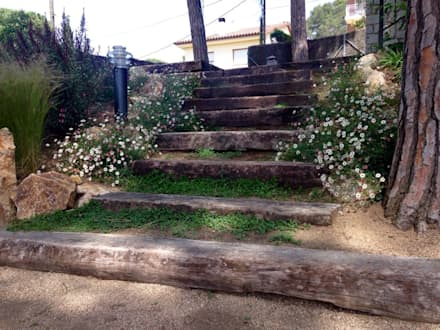 JARDINES: Pasillos y vestíbulos de estilo  de jardinista