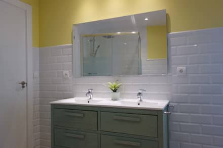 El baño ahora: Baños de estilo escandinavo de Noelia Villalba