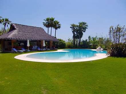 PROYECTO HYDRAZZO - MARBELLA: Piscinas de estilo tropical de Piscinas Godo