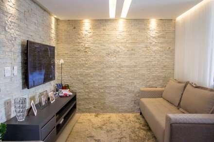 Apartamento Dois: Salas de estar modernas por Bino Arquitetura