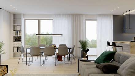 Dom w Krakowie: styl , w kategorii Jadalnia zaprojektowany przez NUKO STUDIO