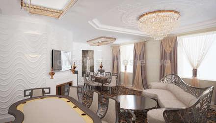 Гостиная номер люкс: Гостиницы в . Автор – Дизайн-студия Анастасии Нестеровой