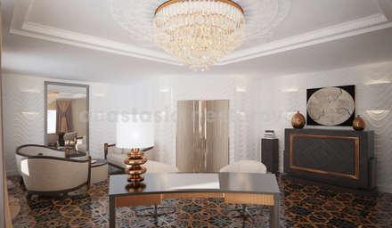 Кабинет номер люкс: Гостиницы в . Автор – Дизайн-студия Анастасии Нестеровой