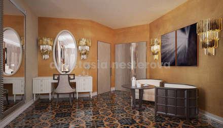 Спальня номер люкс: Гостиницы в . Автор – Дизайн-студия Анастасии Нестеровой