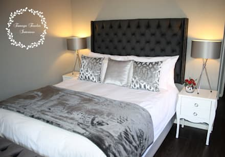 Master Bedroom: Shades of Grey: modern Bedroom by Tamsyn Fowler Interiors