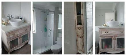 Remodelación Departamento vivienda: Baños de estilo ecléctico por Construcción y Arquitectura Sustentable Spa.