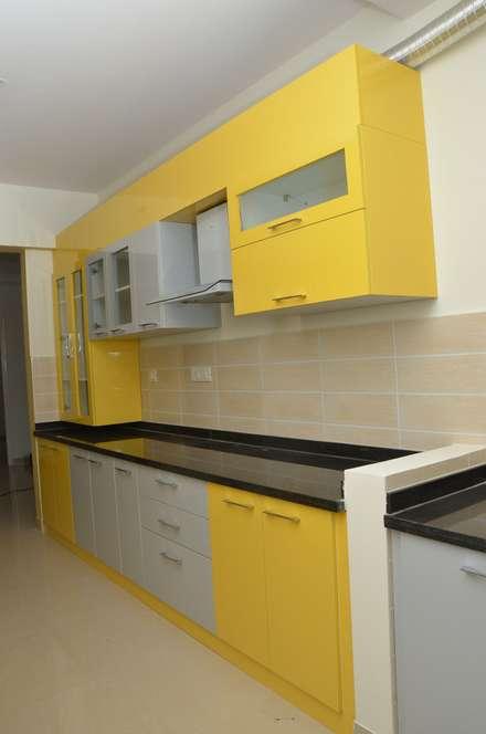 Parallel kitchen layout designs asian kitchen by scale inch pvt ltd