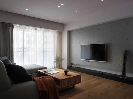 范宅 起居室 :  客廳 by 璞延空間設計