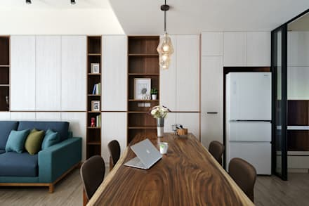 eclectic Dining room by 橡樹設計Oak Design