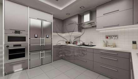 Kapars Mobilya & Dekorasyon – Modern Mutfak Projesi: modern tarz Mutfak