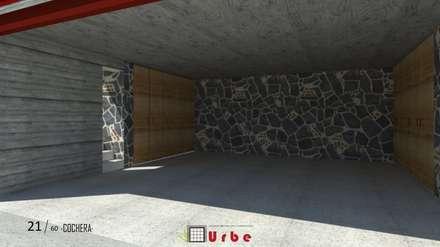 Tlalnecapan · Casa dinámica: Garajes de estilo minimalista por Urbe. Taller de Arquitectura y Construcción