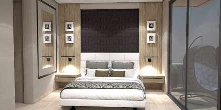 Diseño y remodelacion Apto Estilo industrial - B/quilla: Habitaciones de estilo industrial por ecoexteriores