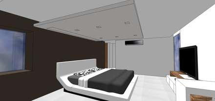 Habitación principal: Cuartos de estilo minimalista por MARATEA Estudio