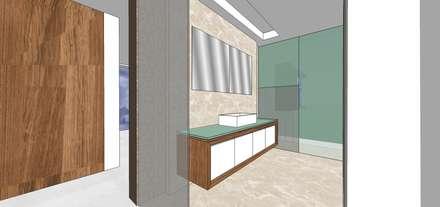 Baño habitación principal: Baños de estilo minimalista por MARATEA Estudio