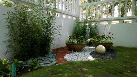 Giardino in stile in stile Tropicale di ecoexteriores