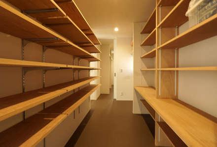宝塚の家_太陽を取り込む家: 近藤晃弘建築都市設計事務所が手掛けたウォークインクローゼットです。