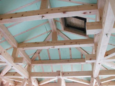 木組の和小屋小住宅: 木造トラス研究所・株式会社 合掌が手掛けた家です。