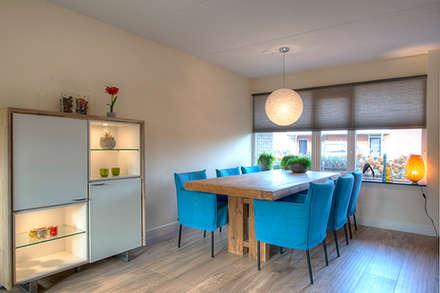 Foto 4 eetkamer: moderne Eetkamer door Anne-Carien Interieurarchitect