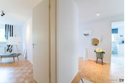 Räumeinblicke vom Flur aus:  Flur & Diele von Münchner home staging Agentur GESCHKA