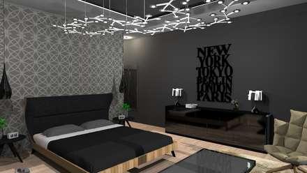 Diseño de vivienda unifamiliar en barrio cerrado Los Cardales: Dormitorios de estilo moderno por Diseño de Locales