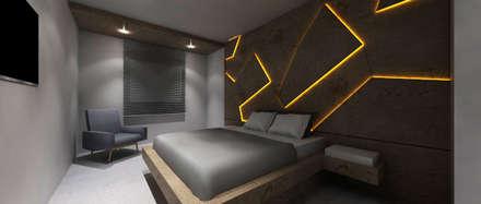 Piso St. Maria: Dormitorios de estilo moderno de PL Architecture