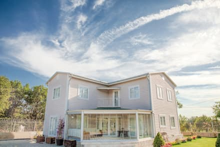 Villa Prefabrik Yapı – İkiz Villa: iskandinav tarz tarz Evler